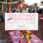 19 Must-Haves for a Summer Wedding