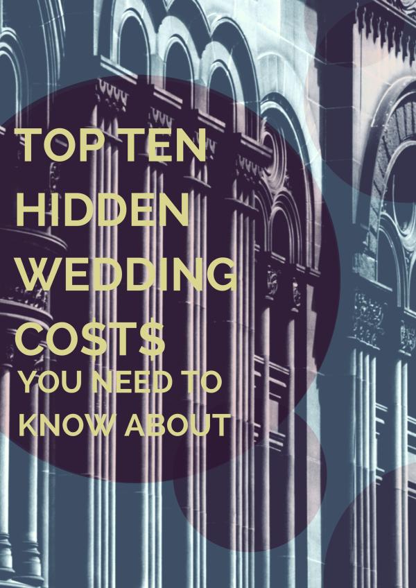 Top hidden wedding costs